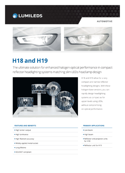 H18 & H19 Compact Headlamp Design Solution for Small Cars